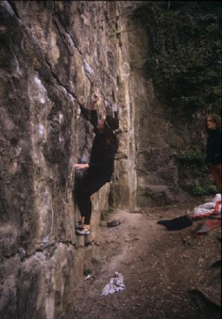 Minus Ten Wall bouldering (Percy Bishton)