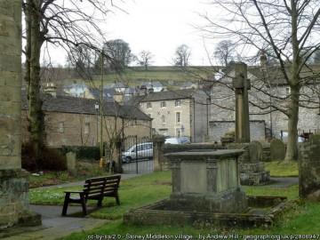 St Martins Church yard with memorial cross