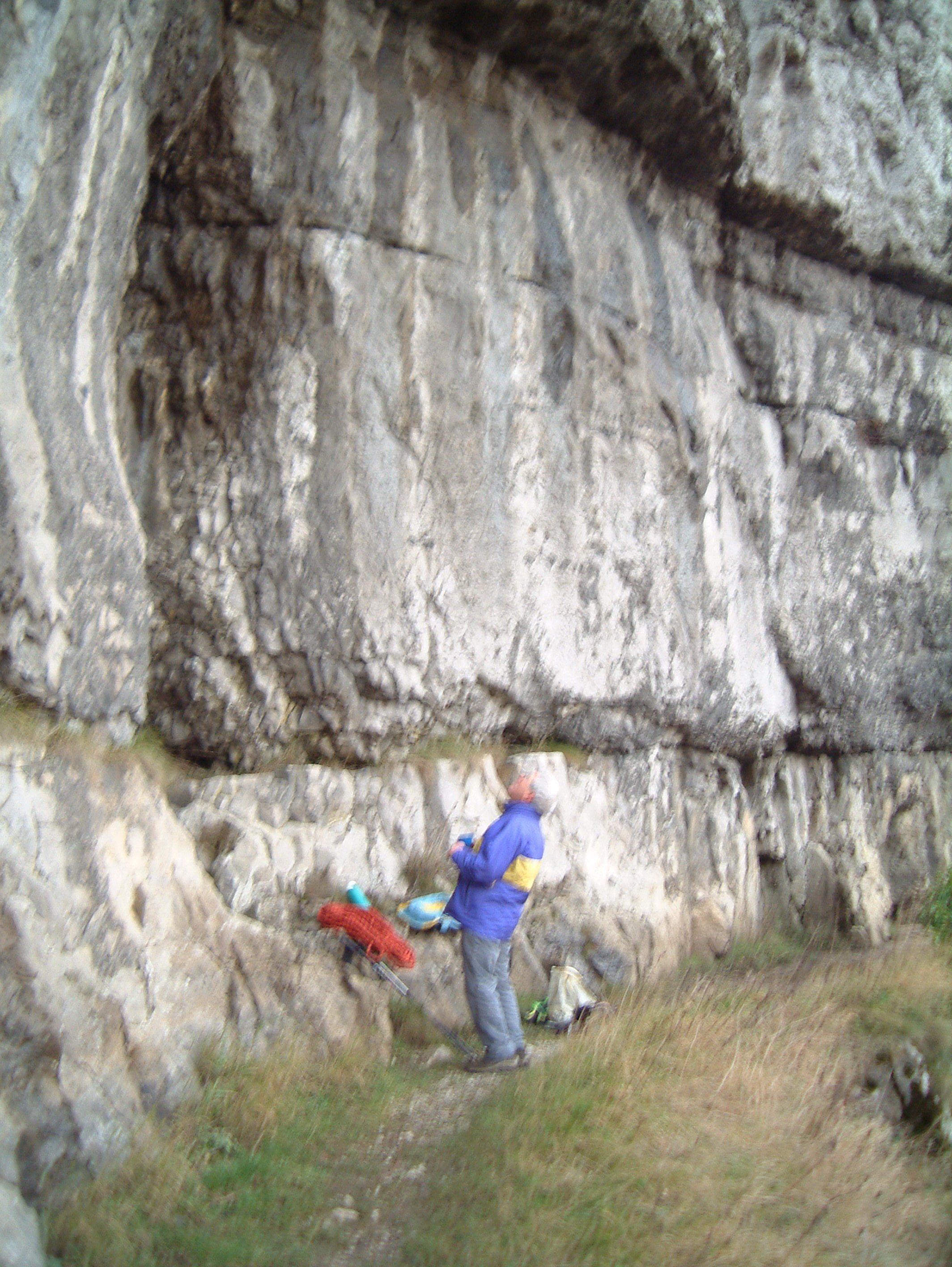 Joe Brown beneath Kink or Brown's Overhang as it was originally known. (Geoff Birtles)