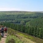 Walkers above Ladybower Reservoir