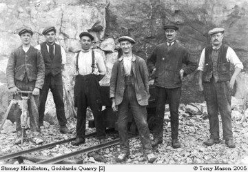 Quarrymen Goddards Stoney Middleton