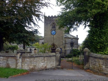 St Martins Church in the centre of the village