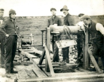 JW Puttrell atop a deep mineshaft on Longstone Edge