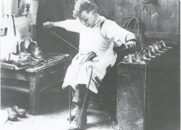 Shoe being Hand Welted